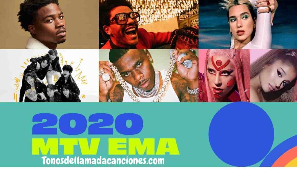 Top 6 canciones nominadas a Best Song en MTV EMA 2020